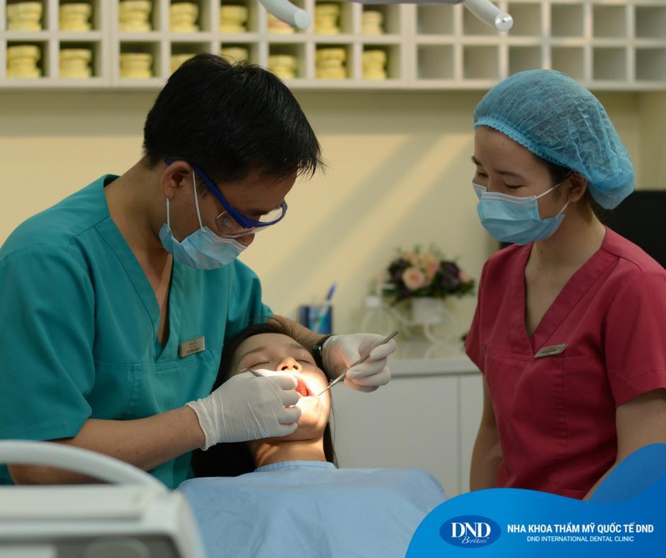 Một ca điều trị chấn thương răng tại Nha khoa Quốc tế DND