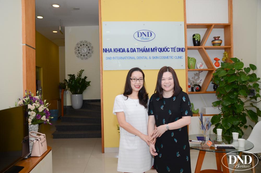 Bà Casline Chu đánh giá cao kết quả chỉnh nha bằng Invisalign của Nha khoa Quốc tế DND thời gian qua